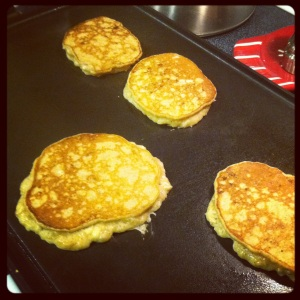 Three ingredient Paleo pancakes. Delicious!