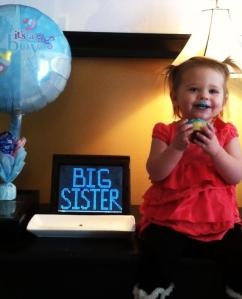 Emma's going to be a big sister to a baby BROTHER!