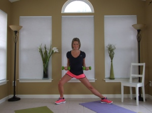"One of my favorite moves in the ""Pregnancy Exercise: Fit Pregnancy Total Body Workout DVD"""