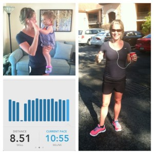 I have enjoyed several good workouts including an 8.5 mile run.