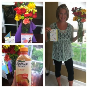 My assistant left me a bouquet of flowers as a congrats on selling out of the Fit Pregnancy DVD. She is the sweetest!