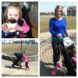 The BMW Maclaren with us at the park and the Greene shopping center. Emma likes to push it too.
