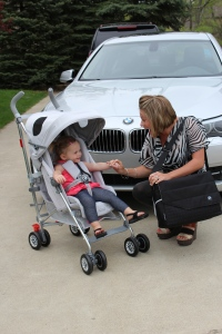 Enter the giveaway for a chance to win this BMW Maclaren stroller!
