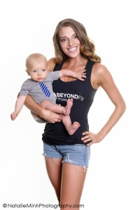 Fit mom featured blogger, Kate, and her adorable son.