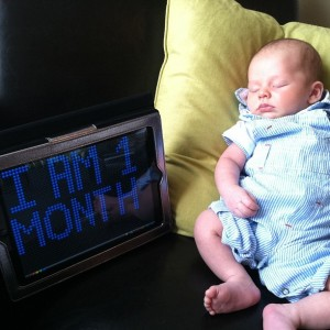 Cole is 1 month old!