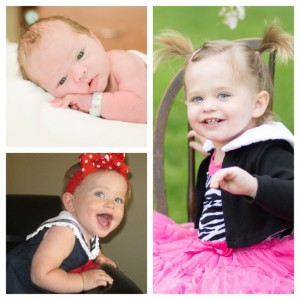 Emma's newborn, 1 year, and 2 year photos. She turned 2 this past weekend!