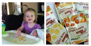 Emma enjoyed the Sprouts toddler snacks the first time she tried them!