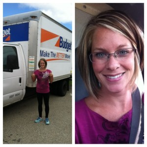 I got to tool around in this moving van all day!