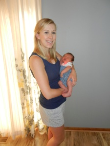 Joanna and her beautiful baby girl.