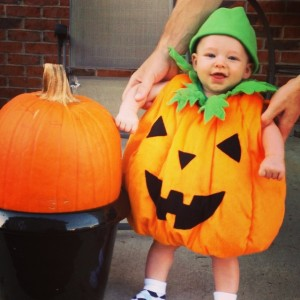 In other news -- is he the cutest little pumpkin you've ever seen, or what?