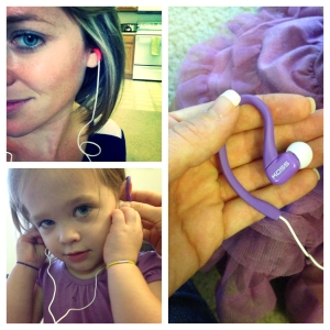 Emma wanted to test the Fit Clips so we listed to Christmas music together.
