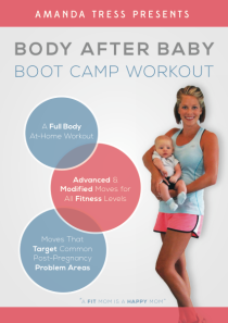 Participants in the Virtual Boot Camp will receive my Body After Baby Boot Camp DVD for FREE.